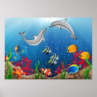 熱帯水中世界ポスター ポスター