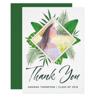 熱帯水彩画のルアウ(ハワイ式宴会)の卒業は感謝していしています カード