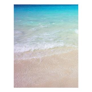 熱帯海水およびビーチの背景文書 レターヘッド