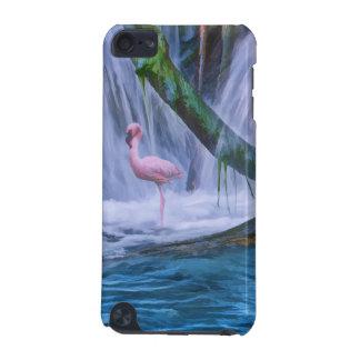 熱帯滝、ピンクのフラミンゴの鳥 iPod TOUCH 5G ケース
