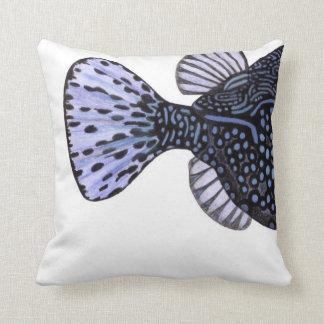熱帯珊瑚礁の魚の青のBoxfish クッション