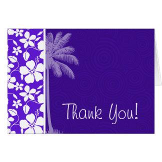 熱帯紫色のハイビスカス カード