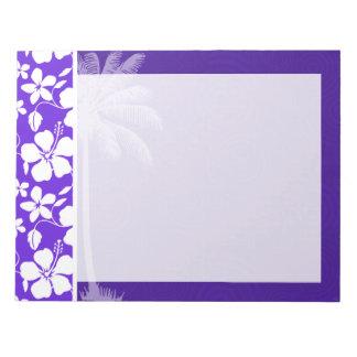 熱帯紫色のハイビスカス ノートパッド