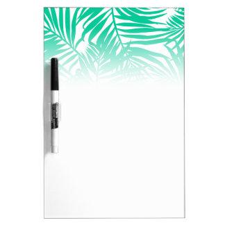 熱帯緑のシュロの葉 ホワイトボード
