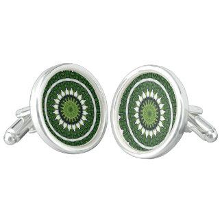 熱帯緑の曼荼羅 カフリンク