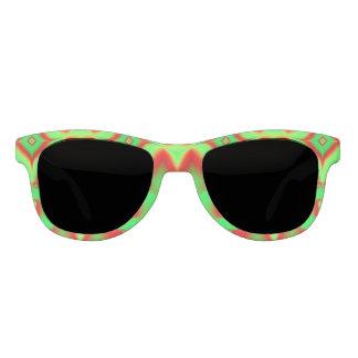 熱帯緑の赤いデザイン サングラス