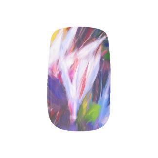 熱帯色彩の鮮やかなネイル ネイルアート