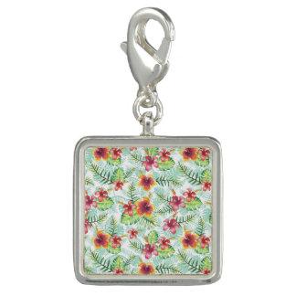熱帯花および群葉 チャーム