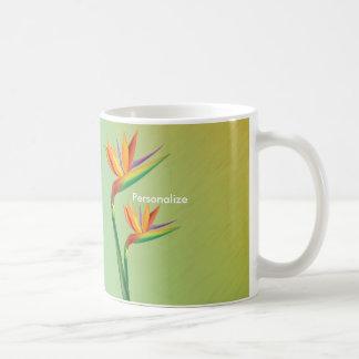 熱帯花のコーヒー・マグのコップ極楽鳥 コーヒーマグカップ