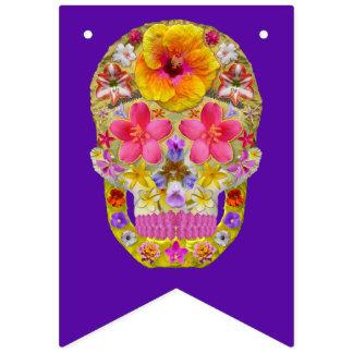 熱帯花のスカル4 - バンティングフラッグ