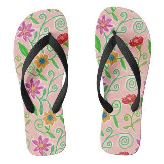 熱帯花のビーチサンダル ビーチサンダル