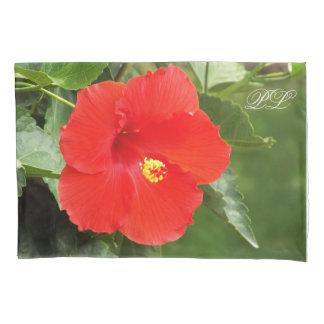 熱帯花のモノグラムの枕カバー 枕カバー