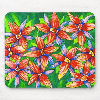 熱帯花の水彩画のマウスパッド マウスパッド
