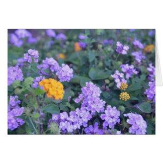 熱帯花の空白のなメッセージカード カード