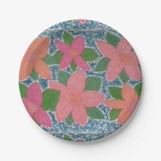 熱帯花の紙皿 ペーパープレート