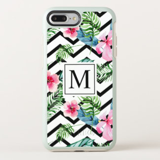 熱帯花の結婚式のモノグラム|の電話箱 オッターボックスシンメトリーiPhone 8 PLUS/7 PLUSケース