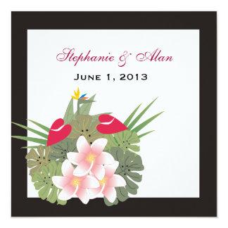 熱帯花の結婚式招待状 カード