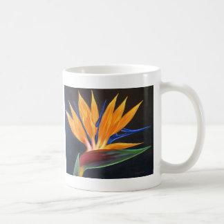 熱帯花の絵画極楽鳥が付いているマグ コーヒーマグカップ