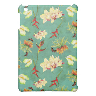 熱帯花の蘭の植物の蝶ビーチ iPad MINI CASE