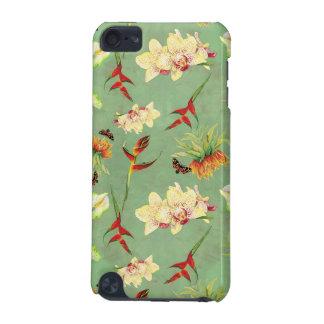 熱帯花の蘭の植物の蝶ビーチ iPod TOUCH 5G ケース