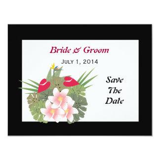 熱帯花は日付カードを救います カード