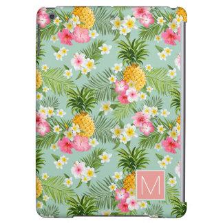 熱帯花及びパイナップルは|あなたのイニシャルを加えます