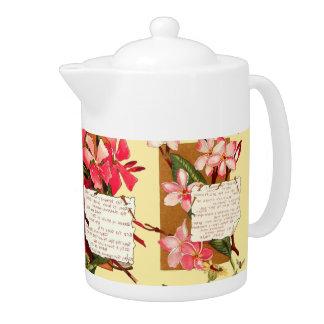 熱帯花柄の花の《昆虫》マルハナバチの詩歌