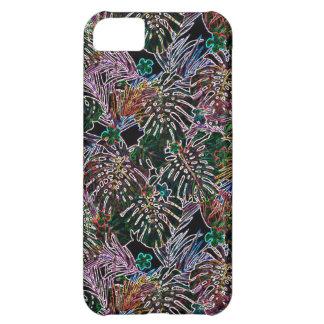 熱帯花模様のネオン iPhone5Cケース