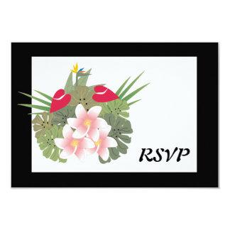 熱帯花RSVPカード カード