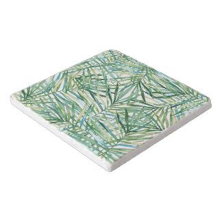 熱帯葉の水彩画 トリベット