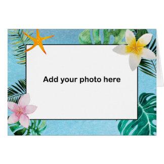 熱帯葉の花は小さいnotecard感謝していしています カード