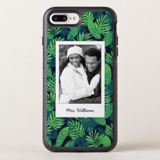 熱帯葉パターン|はあなたの写真を加えましたり及び示します オッターボックスシンメトリーiPhone 8 PLUS/7 PLUSケース