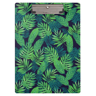 熱帯葉パターン クリップボード