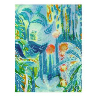 熱帯葉 ポストカード