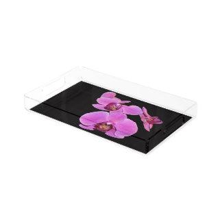 熱帯蘭によっては花のアクリルの皿が開花します アクリルトレー