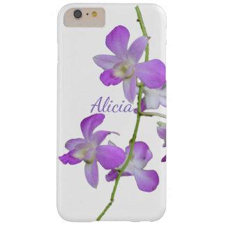熱帯蘭の紫色の白 BARELY THERE iPhone 6 PLUS ケース