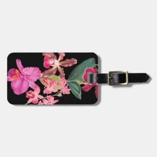 熱帯蘭の花の花の荷物のラベル ラゲッジタグ