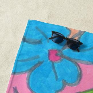 熱帯虹のパーティーのビーチタオル ビーチタオル