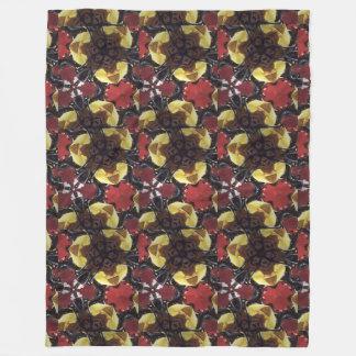 熱帯蝶およびバナナ毛布 フリースブランケット