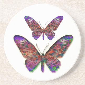 熱帯蝶装飾的な飲み物のコースター コースター
