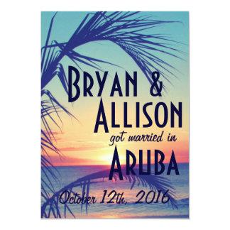 熱帯行先の結婚式の発表及び招待 カード