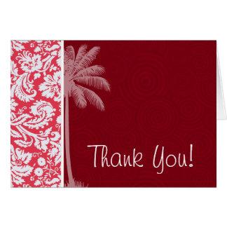熱帯赤いダマスク織 カード