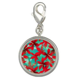 熱帯赤いハイビスカス チャーム