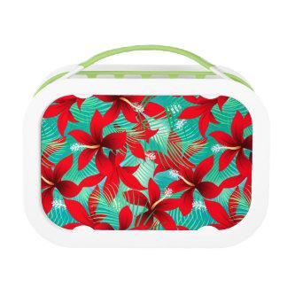 熱帯赤いハイビスカス ランチボックス