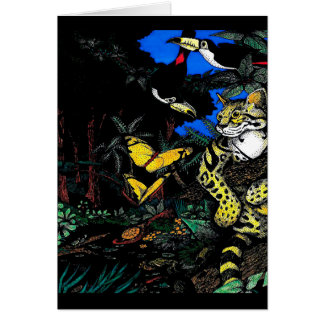 熱帯雨林のオセロット カード