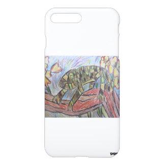 熱帯雨林のカメレオン iPhone 8 PLUS/7 PLUSケース