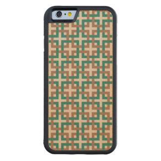熱帯雨林の正方形およびタン木箱 CarvedメープルiPhone 6バンパーケース