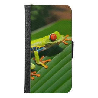 熱帯雨林の緑の目が赤いアマガエル GALAXY S6 ウォレットケース