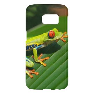 熱帯雨林の緑の目が赤いアマガエル SAMSUNG GALAXY S7 ケース