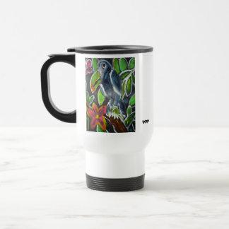 熱帯雨林のToucanの芸術 トラベルマグ